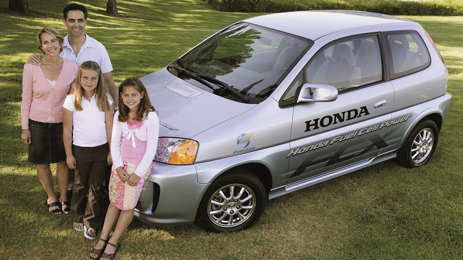 The first family to buy a Honda FCX.